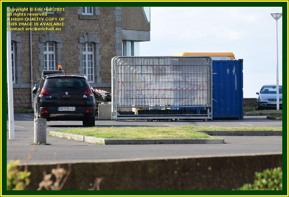 workmen's compound place d'armes Granville Manche Normandy France Eric Hall photo September 2021