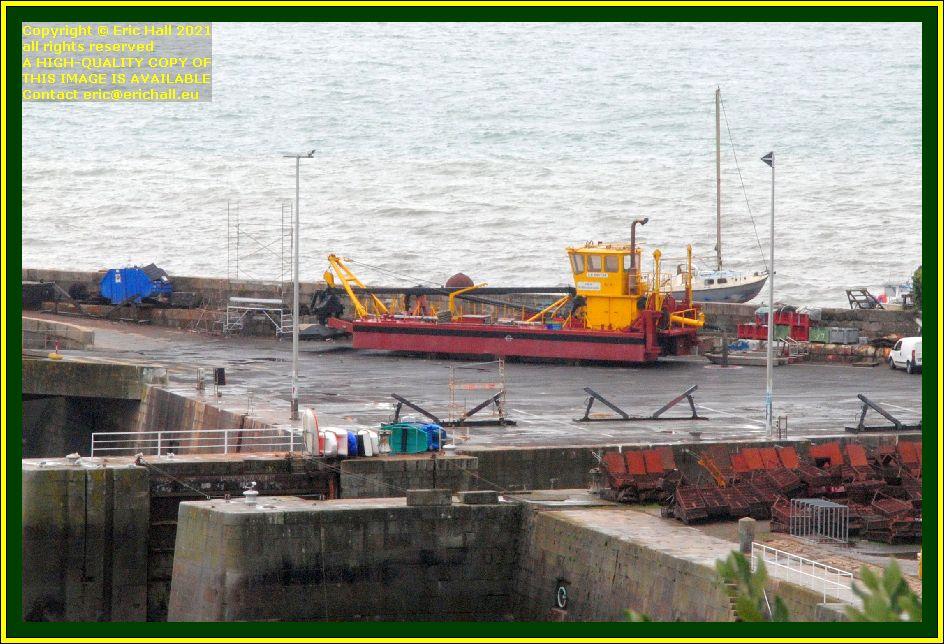 dredger chantier naval port de Granville harbour Manche Normandy France Eric Hall photo October 2021