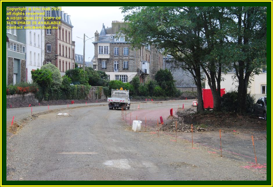 new roadway construction rue du boscq Granville Manche Normandy France Eric Hall photo October 2021