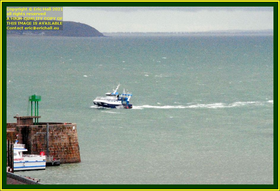 trawler returning to port de Granville harbour Manche Normandy France Eric Hall photo October 2021