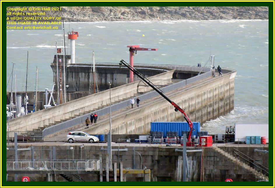 crane on quayside port de Granville harbour Manche Normandy France Eric Hall photo October 2021