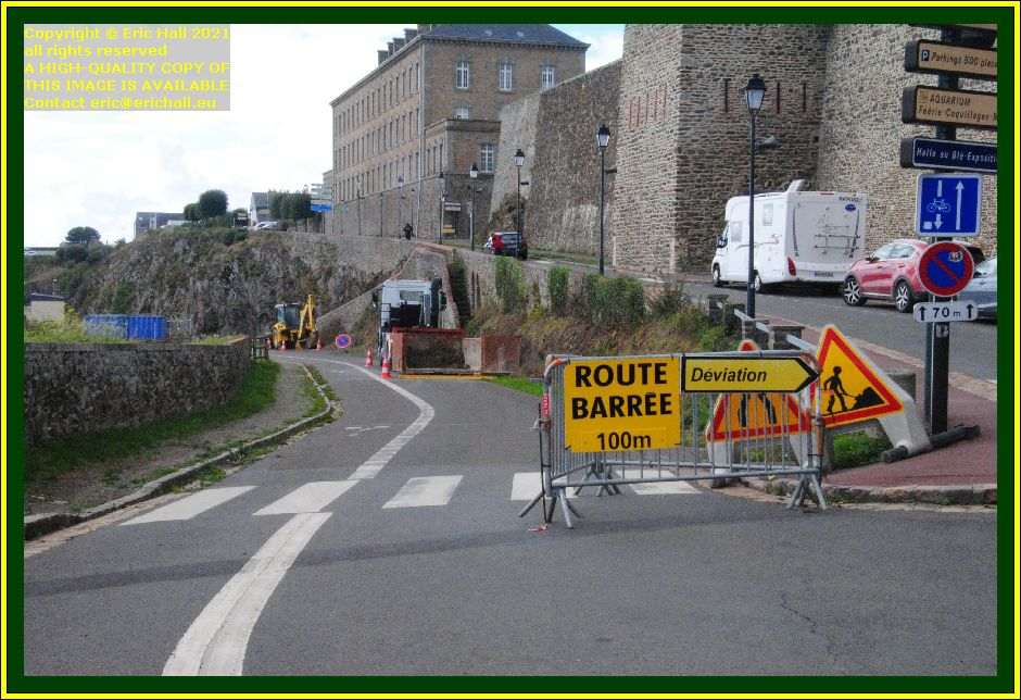 boulevard des terreneuviers closed to traffic Granville Manche Normandy France Eric Hall photo October 2021