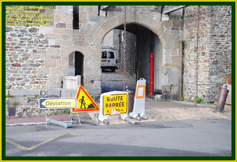 road closed rue cambernon Granville Manche Normandy France Eric Hall photo October 2021