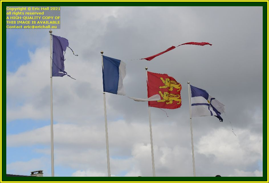 flags boulevard vaufleury Granville Manche Normandy France Eric Hall photo October 2021