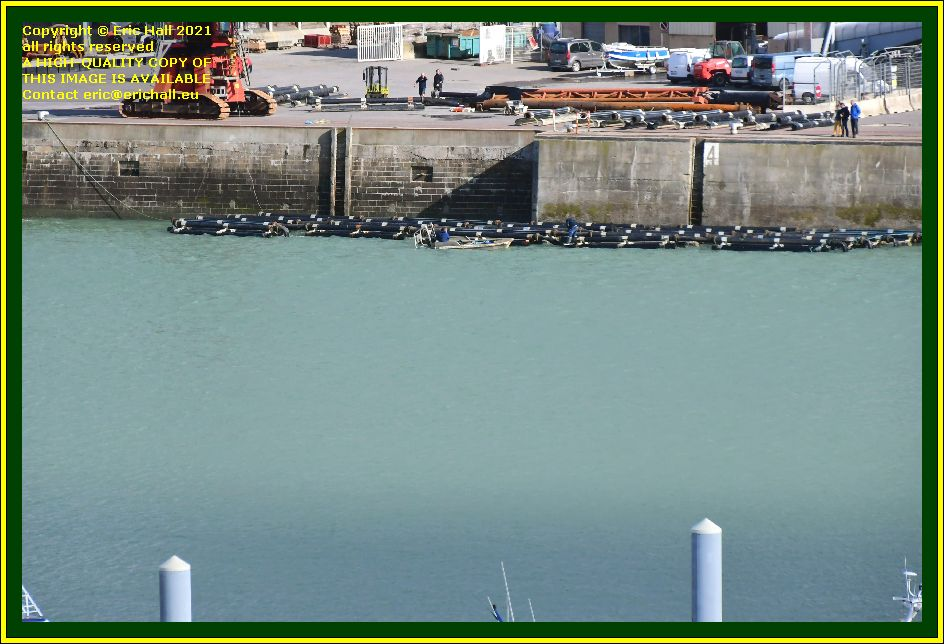tubes in water port de Granville harbour Manche Normandy France Eric Hall photo October 2021