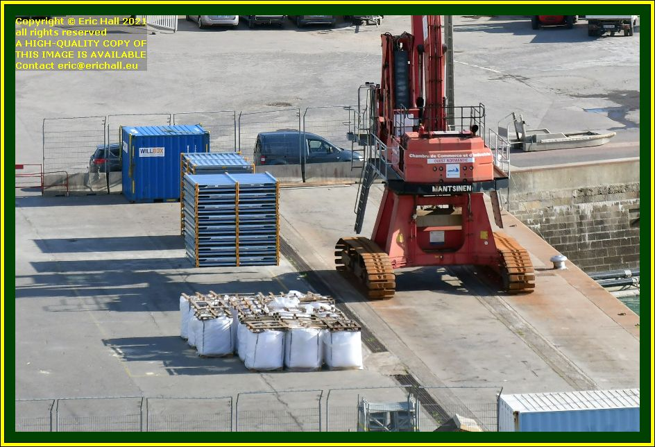 freight on quayside port de Granville harbour Manche Normandy France Eric Hall photo October 2021