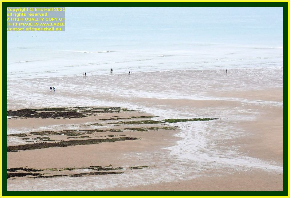 people on beach rue du nord Granville Manche Normandy France Eric Hall photo October 2021