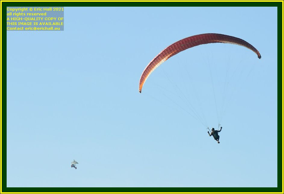 aerial ballet hang glider powered hang glider place d'armes Granville Manche Normandy France Eric Hall photo October 2021