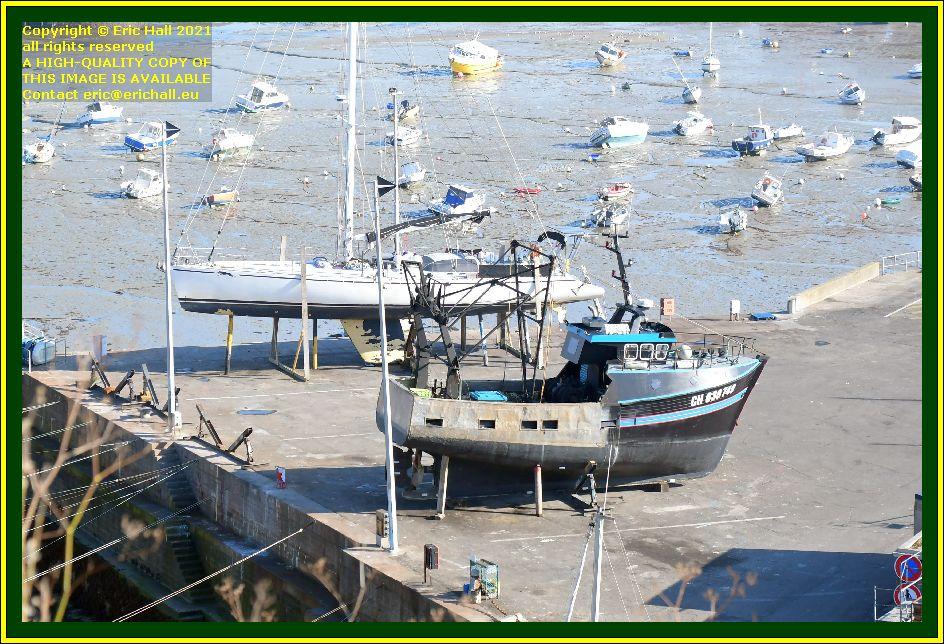 trawler pescadore yacht chantier naval port de Granville harbour Manche Normandy France Eric Hall photo October 2021