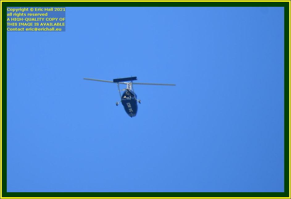 helicopter 34-ACI pointe du roc Granville Manche Normandy France Eric Hall photo October 2021