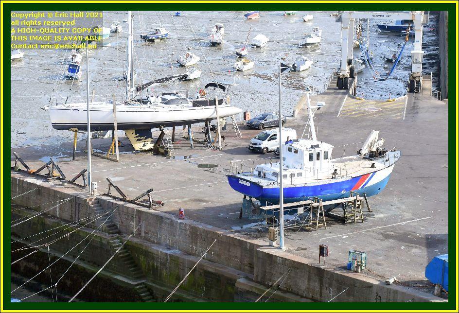 yacht les epiettes chantier naval port de Granville harbour Manche Normandy France Eric Hall photo October 2021