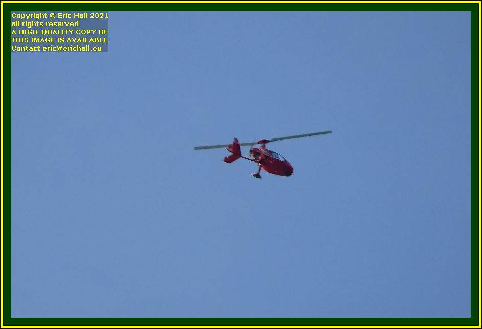 helicopter pointe du roc Granville Manche Normandy France Eric Hall photo October 2021