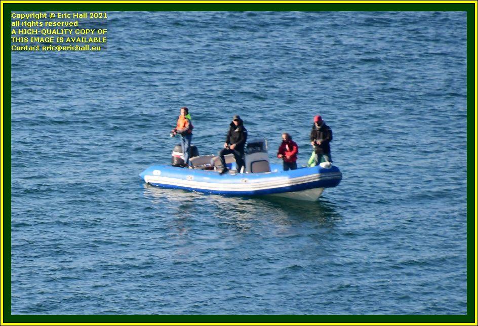 fishermen in zodiac baie de Granville Manche Normandy France Eric Hall photo October 2021