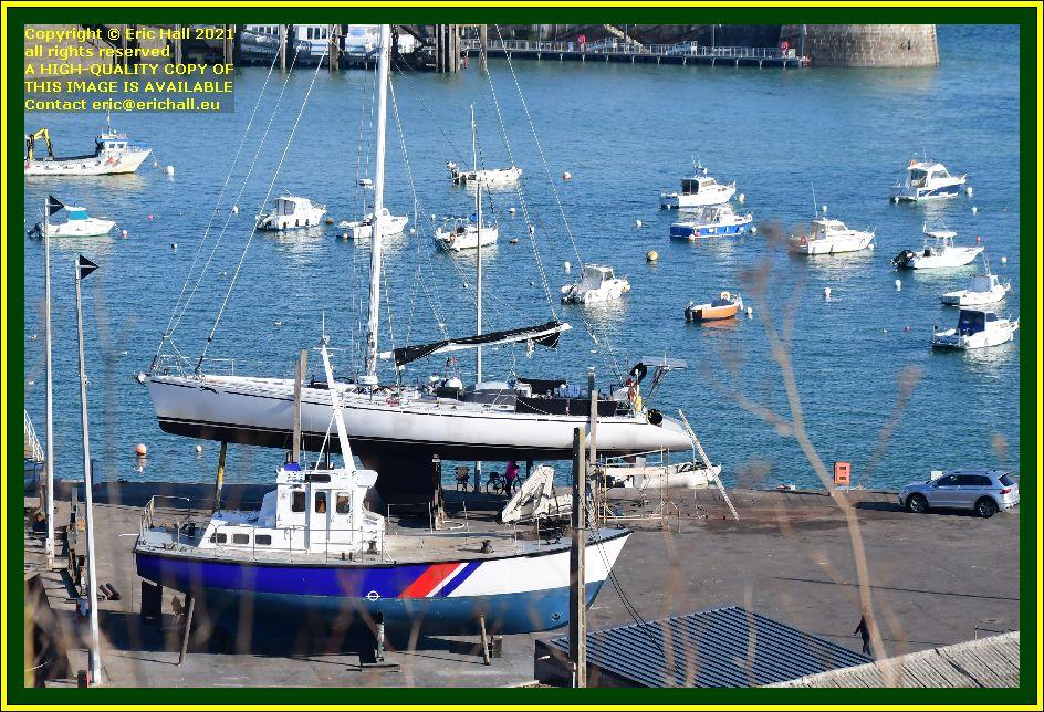 yachts les epiettes chantier naval port de Granville harbour Manche Normandy France Eric Hall photo October 2021